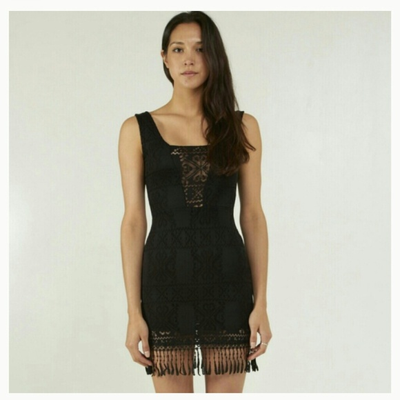 60aa46cfb15 Dresses | Reserved Black Boho Fringe Dress | Poshmark