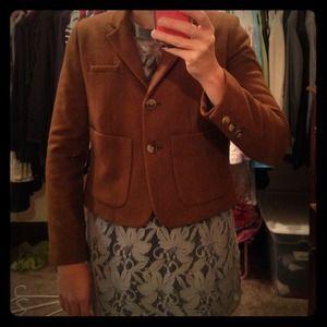 Anthropologie cartonnier blazer/jacket. Brown