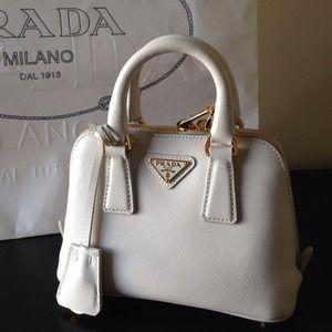 Prada Handbags - 💯Authentic Prada mini Saffiano promenade bag