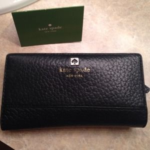 Kate Spade Blk Leather Wallet-