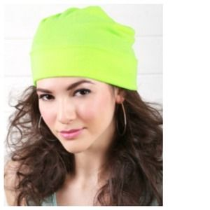 Neon Yellow Knit Beanie