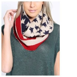 Red White Blue Infinity Scarf