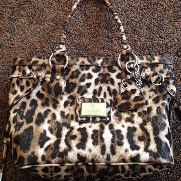 cf7516fccff8 Guess Bags   Leopard Print Handbag   Poshmark