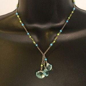Aqua & Bright Green Express Necklace