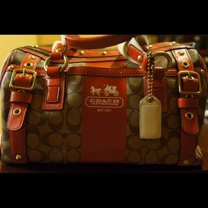 Auth. Coach top handle bag. Gently used