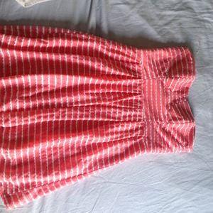 Pink Strapless summer dress