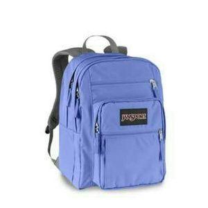 69% off Jansport Handbags - Jansport Big Student Light Blue Purple ...