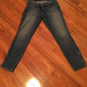 JBrand jeans with zippers at ankles