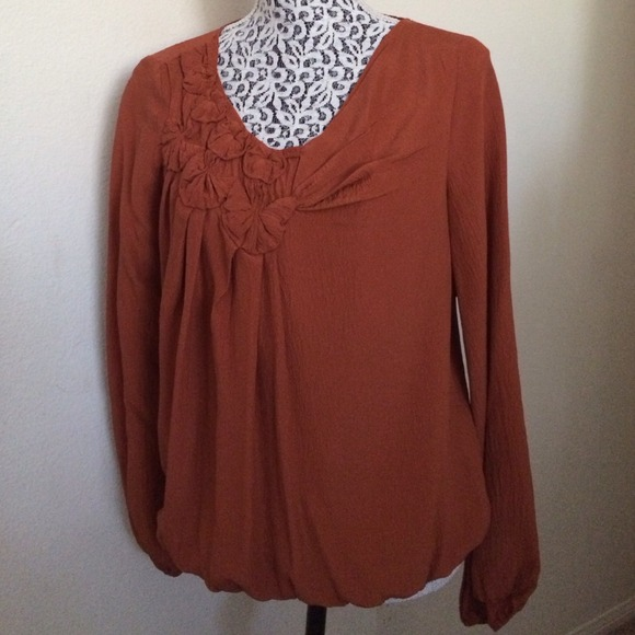 422758c1dee02a Leon Max Tops - Rust colored blouse