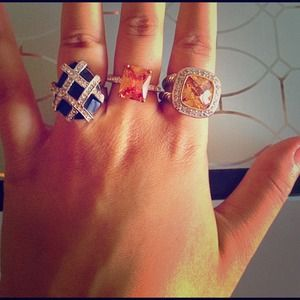 Gorgeous rings. Each 8$ together 20$