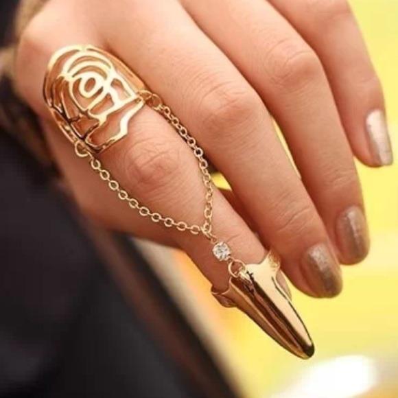 Jewelry | Gold Rose Nail Ring | Poshmark