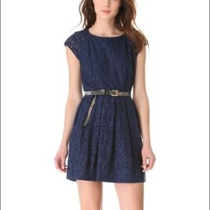Madewell lace cap sleeve dress