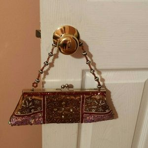 Accessories - Vintage Beads and sequins mini handbag
