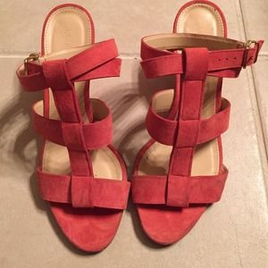 Jcrew suede gladiator wedge sandals
