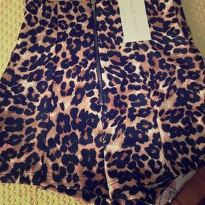 Leopard High Wasted Shorts/Naked Wardrobe