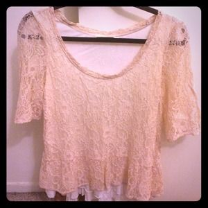 Anthropology lace top