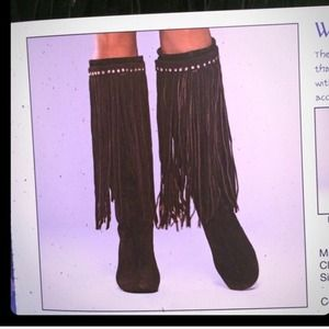 Accessories - Brown fringe boot accessory