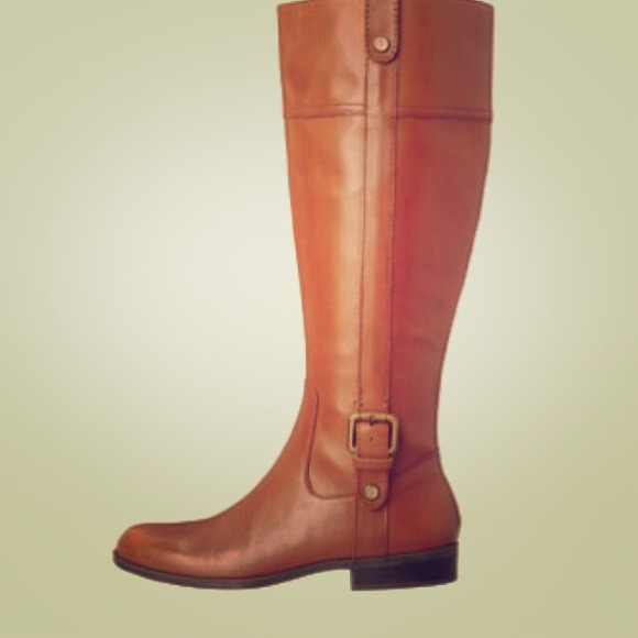 Anne Klein - NIB ANNE KLEIN WIDE CALF COGNAC BOOTS 7 1/2 from ...