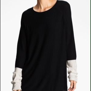 T by Alexander Wang Black Colorblock Pullover M