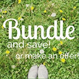 BUNDLE to save on shipping! Let me know :)