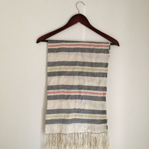 Spartina 449 Accessories - Striped Fringed scarf