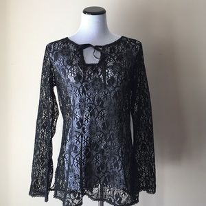INC International Concepts Tops - NWT I.N.C International Concept Lace Sheer Top