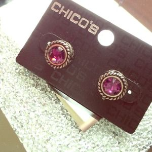 Chico's Jewelry - Chico's Purple Rhinestone Studd