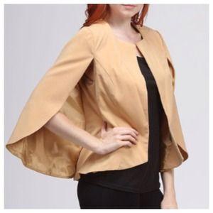 Jackets & Blazers - SALE Camel Cape Sleeve Blazer