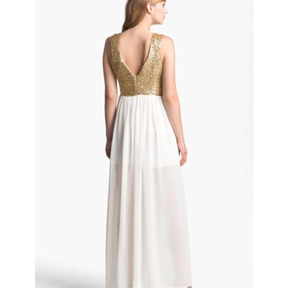 57% off Keepsake The Label Dresses & Skirts - Gold Sequin & White ...