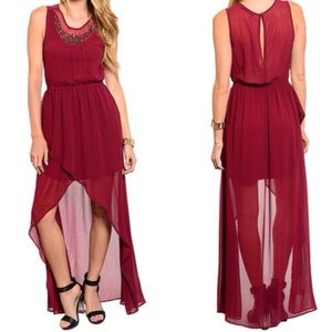 🍦25% Off Bundles! Semi Formal Burgundy Maxi Dress
