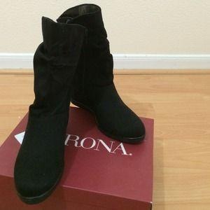 Merona Black Ankle Boots NWOT