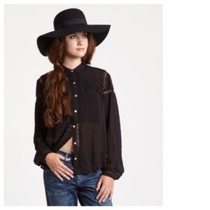 Free People Tops - Free People Black Everyday Girl Top