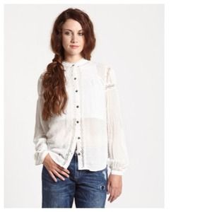 Free People White Everyday Girl Top