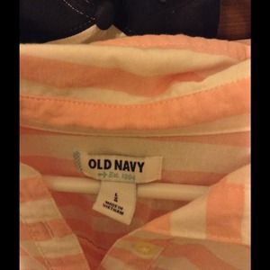 Pink and white striped shirt from old navy