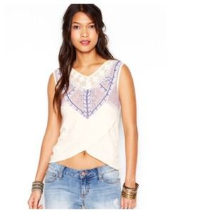 Free People Tops - Free People Ivory Sahara Top