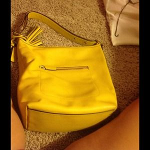 COACH LEGACY Leather large duffle - yellow