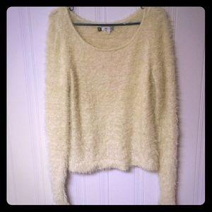 Fuzzy jennifer lopez sweater
