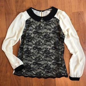 Chiffon lace blouse