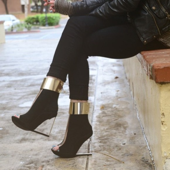 e19abcb72f3 Jeffrey campbell roni mc sliver clear heel bootie