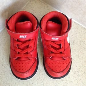 2fd54d04d6c Nike Shoes - NIKE toddler prestige IV high top red sneakers
