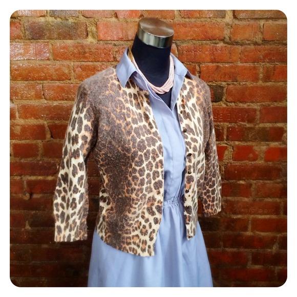 Sweaters - HALF OFF SALE | Leopard Print Cardigan