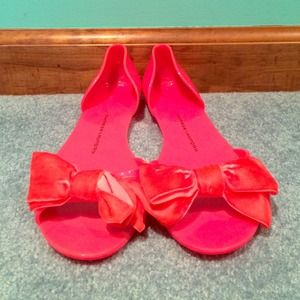 Chinese Laundry Jelly Bow Flats