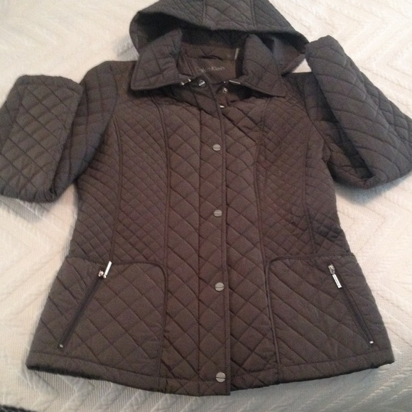 68% off Calvin Klein Outerwear - NWOT Calvin Klein Hooded Quilted ... : quilted hooded jacket - Adamdwight.com