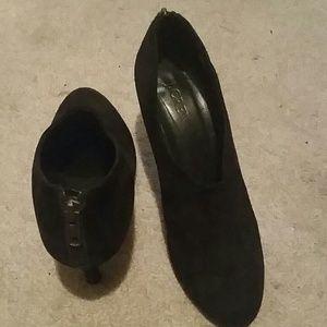 J crew womens bronson suede ankle booties 7 black