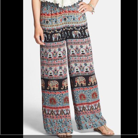 angie sale angie elephant print palazzo pants from cks