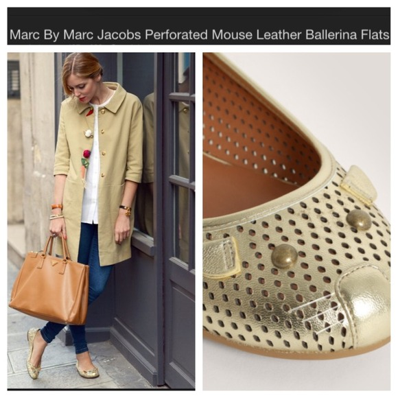 c58b112ced09 HP Marc Jacobs Ballet Mouse Gold Flats. M 5438573f32fe14325f00bf53