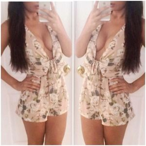 Floral Romper Playsuit NWT