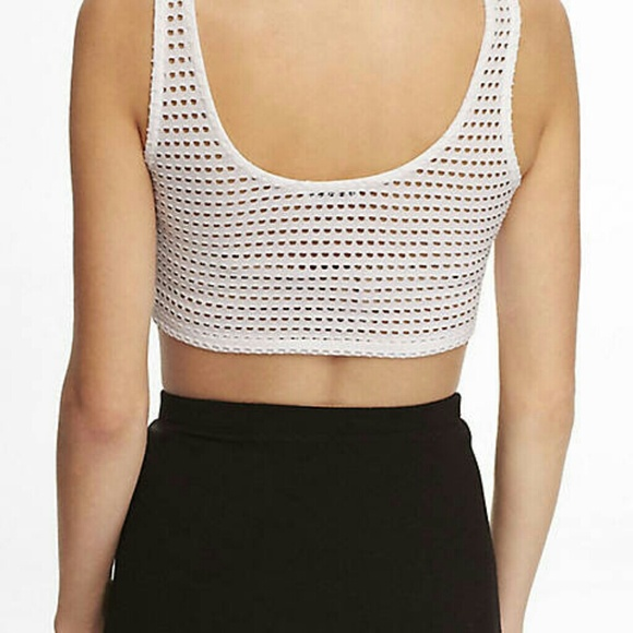 60 Off Express Tops Express Open Mesh Bralette From