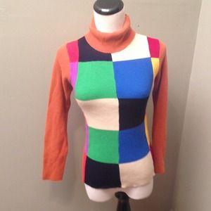 Vintage Color Block Sweater S M