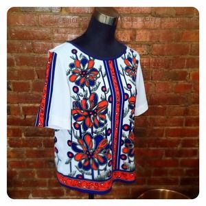 HALF OFF SALE | Vintage 60s Print Top
